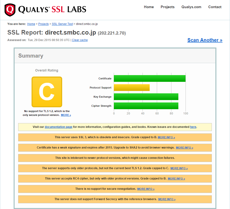 SMBC Security Rating